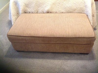 Loveseat and matching hassock