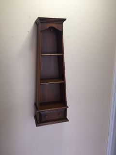 WOODEN WALL OPEN DISPLAY CABINET