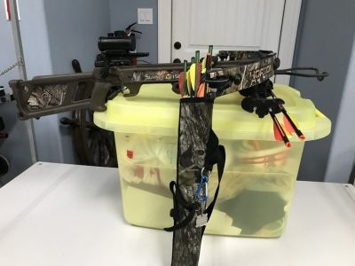 Cross Bow/Case and Arrows