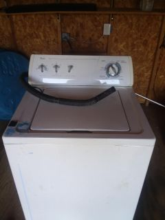 Used whirlpool washer, works fine 75$ obo!