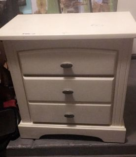Heavy wooden nightstand/end table
