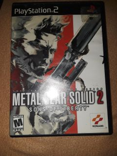 metal gear solid 2 son's of liberty ps2 game