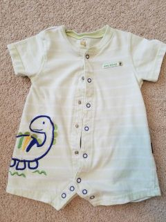 9 month green Carters snap up dinosaur romper