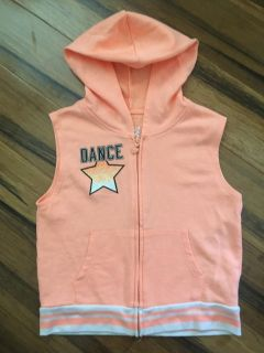 Justice NWOT Cute Vest with Hoodie- Size 12-14