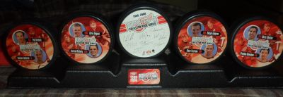 Red Wings Hockey Puck Collection