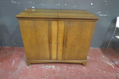 Vintage mid century walnut bar cabinet/server
