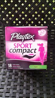 New: Playtex Sport Compact Tampons Super - 18 Count ~ $2.