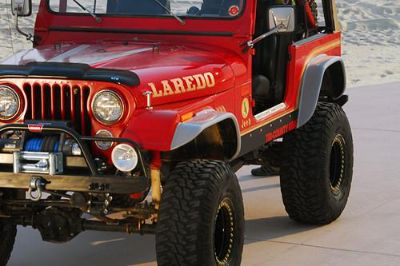 Sell 71-86 Jeep CJ Front, Rear, Left, Right Fender Extension Flat Panel 4 Pcs SUV motorcycle in Anaheim, California, US, for US $389.78
