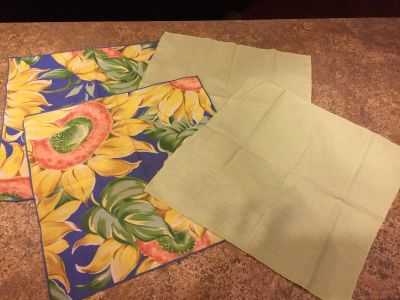 Pretty Spring Mix/Match Napkins-Green is a pretty spring green-Cleaning Out-Must Go!