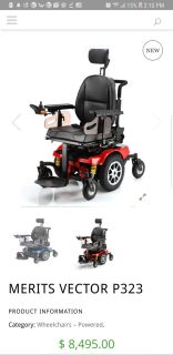 Vector electric wheel chair