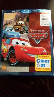 Cars Blu- ray and dvd combo
