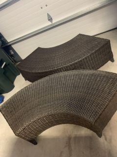 Outdoor Benches and Rug