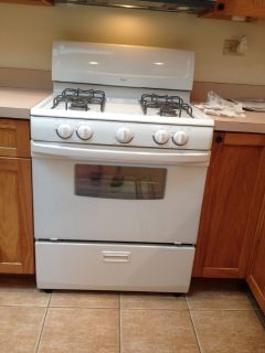 Whirlpool Gas stove, microwave, dishwasher