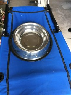 STAINLESS STEEL DOG DISH -- VERY LARGE