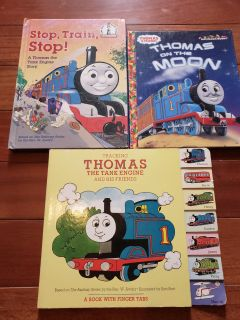 3 hard cover Thomas the train and friends books