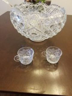 Smith Glassware Punch Bowl