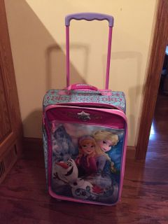 Frozen suit case on wheels barely used