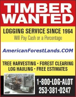 LOGGING LAND, TIMBER HARVESTING COMPANY Thurston County, Puyallup Auburn Enumclaw, Issaquah WA State