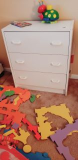 2 White Dressers For Kids, 3 Drawers