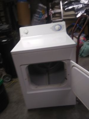 White G E electric dryer