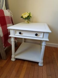 Refinished Solid wood end table
