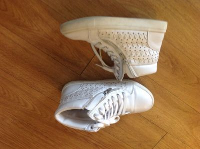 Size 4 all white sneakers