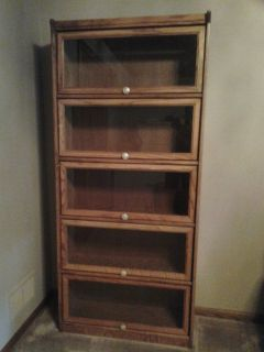 Barrister bookcase medium oak