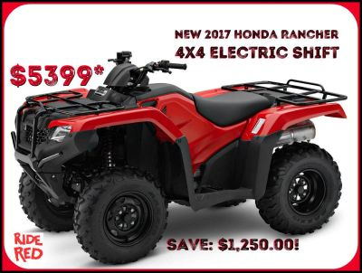 2017 Honda FourTrax Rancher 4x4 ES Utility ATVs Erie, PA