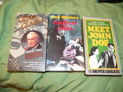 3 Horror/Mystery VHS Tapes