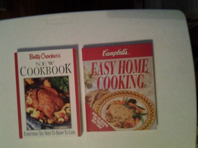 Cookbooks (Betty Crocker/ Campbell's) price each