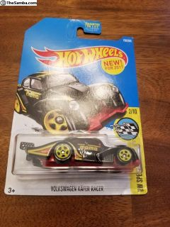 Hot Wheels VW bug rd and black racer