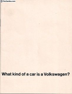 1964 24 Page Brochure What Kind of a Car
