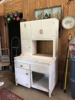 Hoosier top on home made cabinet
