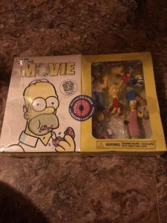 The simpsons movie gift set