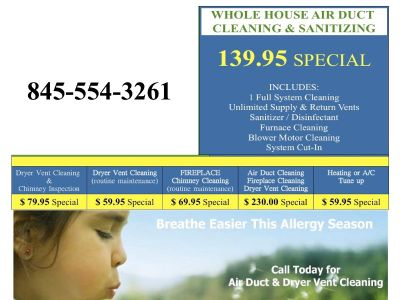 Air Duct Vent Cleaning & Dryer Vent Cleaning