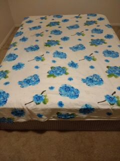 Queen Mattress with bed frame