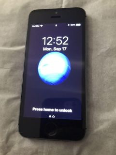 Unlocked iPhone 5s with 16gb