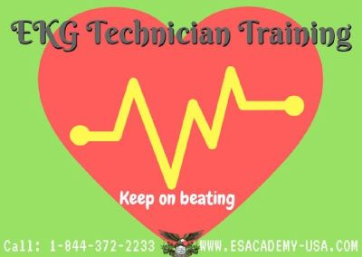 EKG Technician Class at E&S Academy.