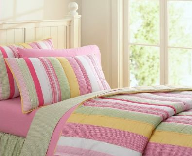 Pottery Bark Kids Quilt & 2 shams (size: double bed)