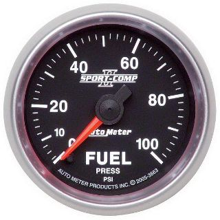 "Purchase Auto Meter 3663 Sport Comp II 2 1/16"" Electric Fuel Pressure Gauge 0-100 PSI motorcycle in Greenville, Wisconsin, US, for US $215.98"