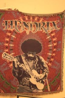 Jimi Hendrix Collectible Blanket/Tapestry (New)