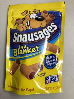 New Snausages in a Blanket Beef & Cheese Flavor