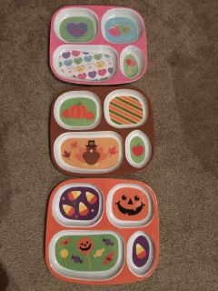 3 divided plates