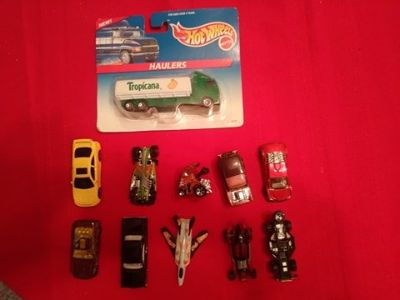11 vintage hot wheels di cast metal cars