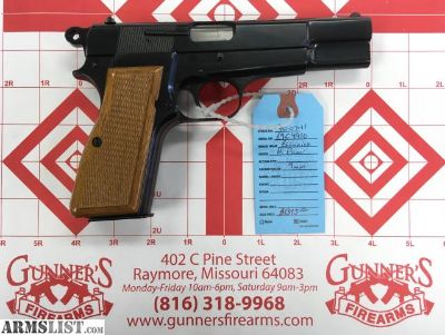 For Sale: Browning Hi-Power 9MM Belgium $1395
