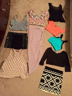 Lot tops and skirts all size small