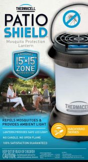 NEW-Thermacell Patio Shield Bristol Vapor Mosquito Repellent Lantern
