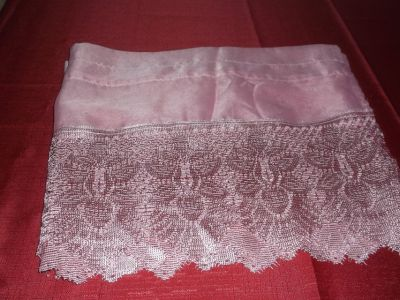 MAUVE CROCHET LACE KITCHEN CURTAINS