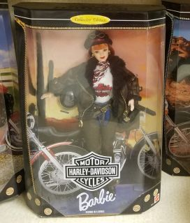 NIB 1998 HARLEY DAVIDSON Barbie Doll COLLECTOR EDITION 20441 Red Head Bike