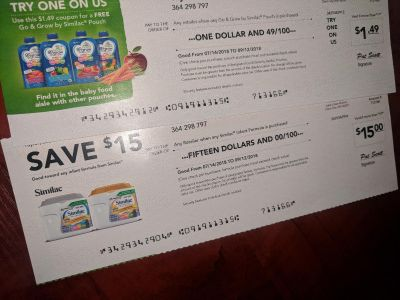 *Trade* Similac formula $15 Coupon & Free Go & Grow food pouch coupon